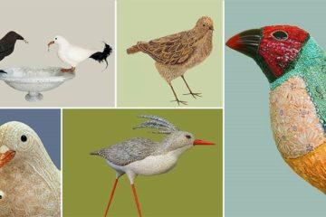 Mosaic Bird Sculptures