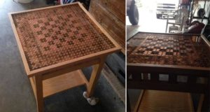 Pennies Chess Table