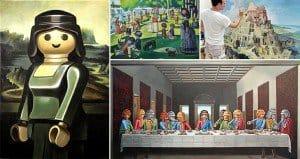 Playmobil figure Paintings