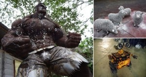 Scrap Metal move character Sculptures