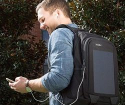 Solar Battery Charger Backpack phone