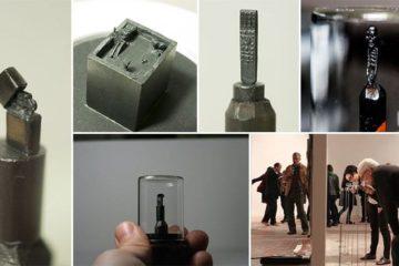 Tiny Graphite Sculptures