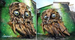 junk Owl Sculpture