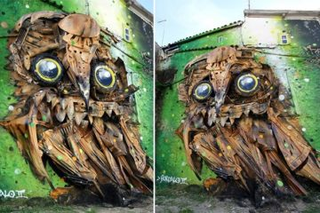 junk Owl Sculpture