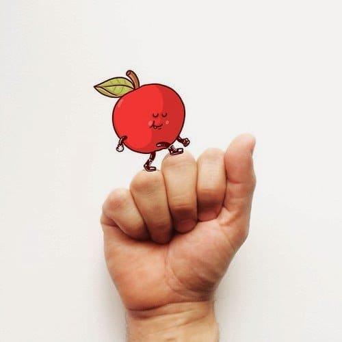 a apple