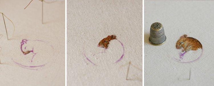 animal-embroidery-chloe-giordano-dormouse-working