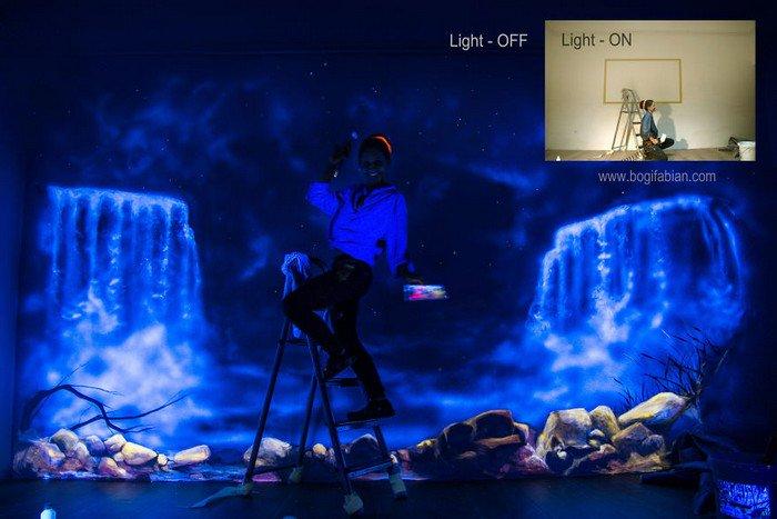 artist light on off