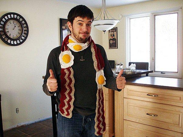 bacon eggs scarf