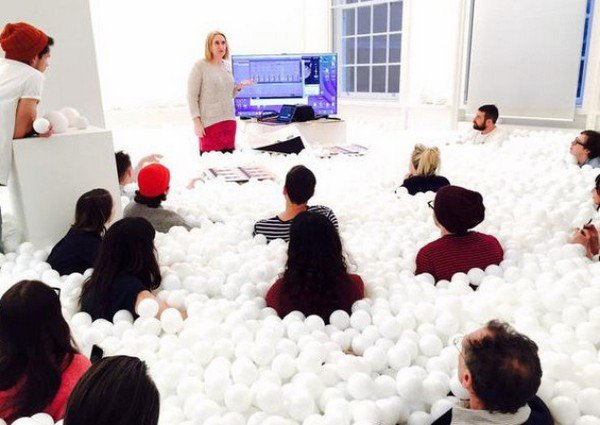 ball pit lecture students