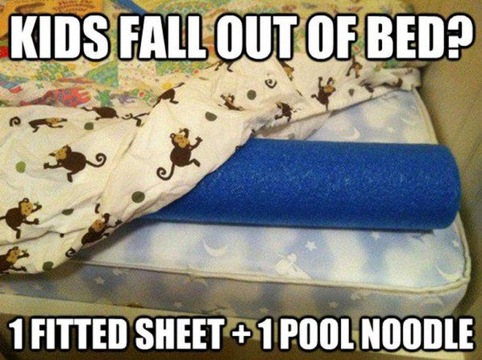 bed pool noodle