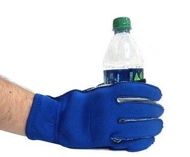 beer holding glove bottle