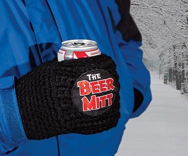 beer mitt outside