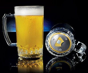 beer mug bottle opener glass