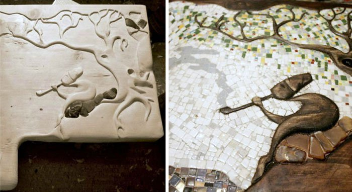 before-and-after-mosaic-sink