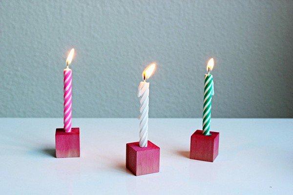 birthday candle blocks