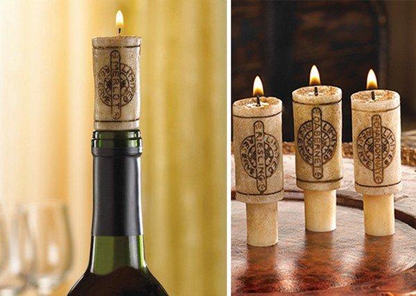 bottle cork candles