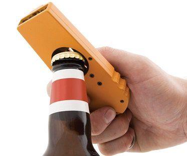 bottle opening cap launcher beer