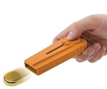 bottle opening cap launcher orange