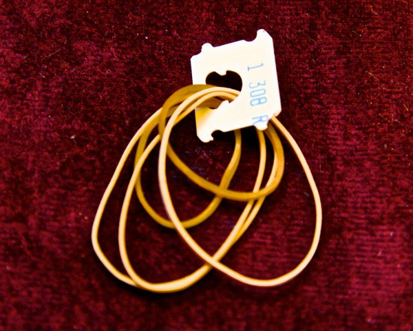 bread tag rubber bands