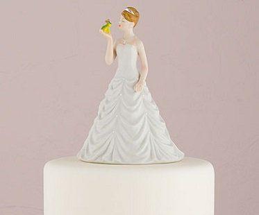 bride kissing frog cake topper groom