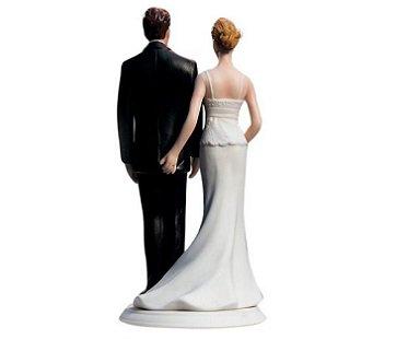Bride Pinching Groom Cake Topper