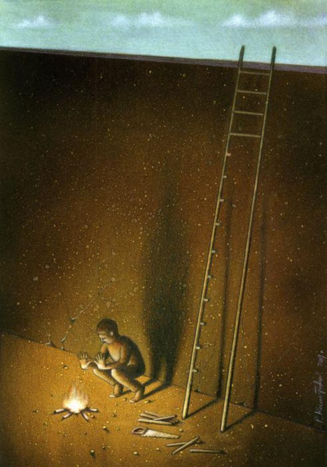 broken ladder fire