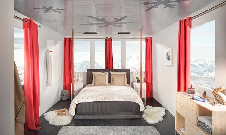 cable-car-hotel-alps-france-bed
