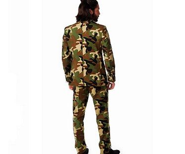 camouflage suit back