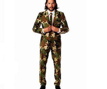 camouflage suit man