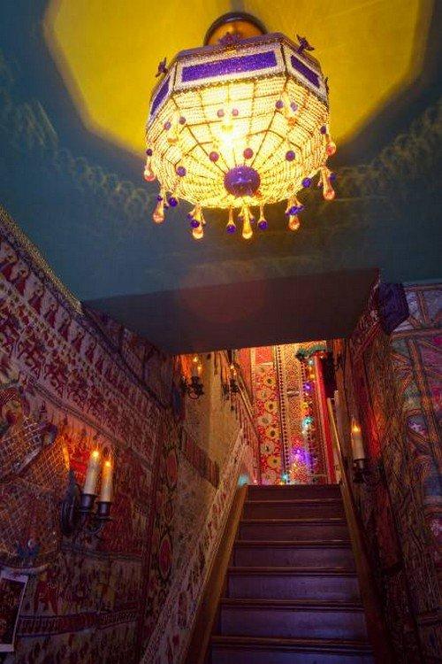 carpeted walls lampshade