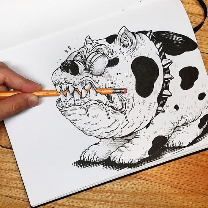 This Artist Actually Fights With His Drawings