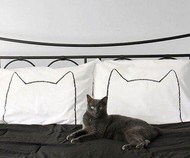 cat head pillowcases