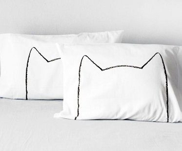 cat head pillowcases bedding