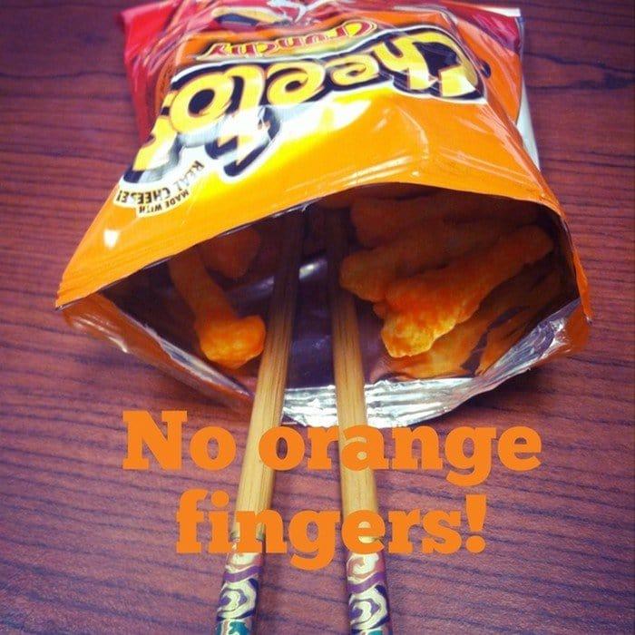 cheetos chopsticks