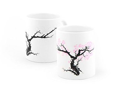 cherry blossom heat changing mug