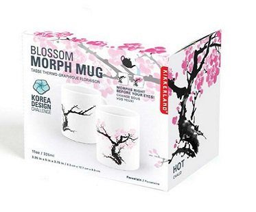 cherry blossom heat changing mug box