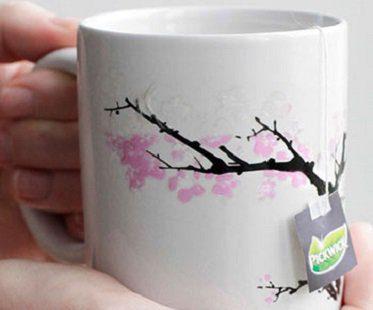 cherry blossom heat changing mug tea