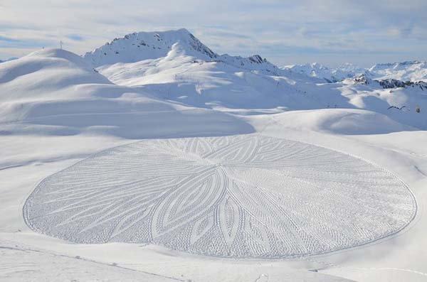 circle snow design