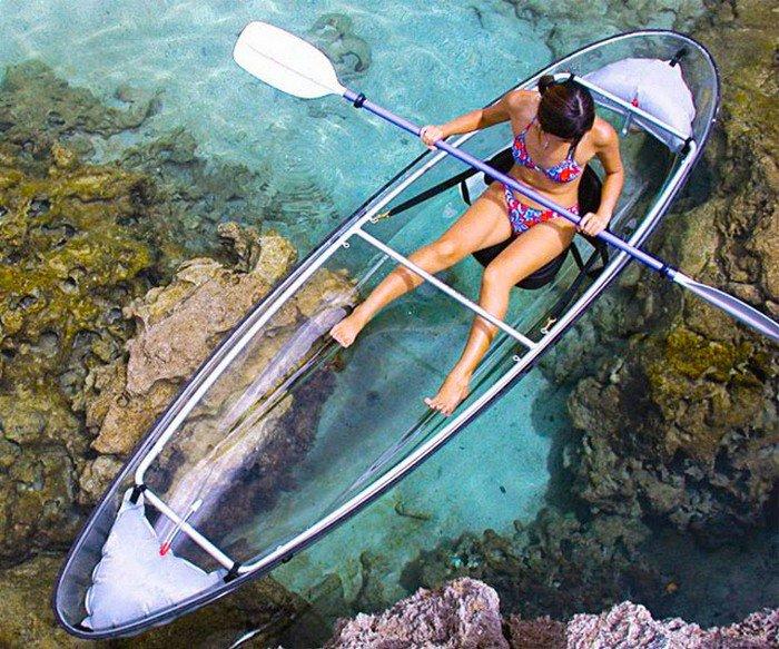 clear canoe