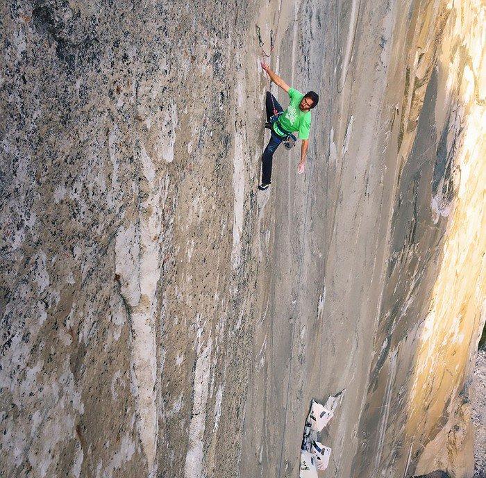 climbing sheer face