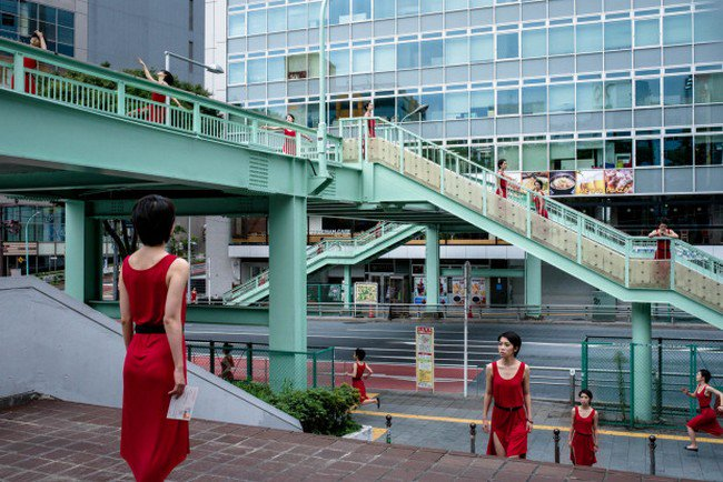 clone women red dress