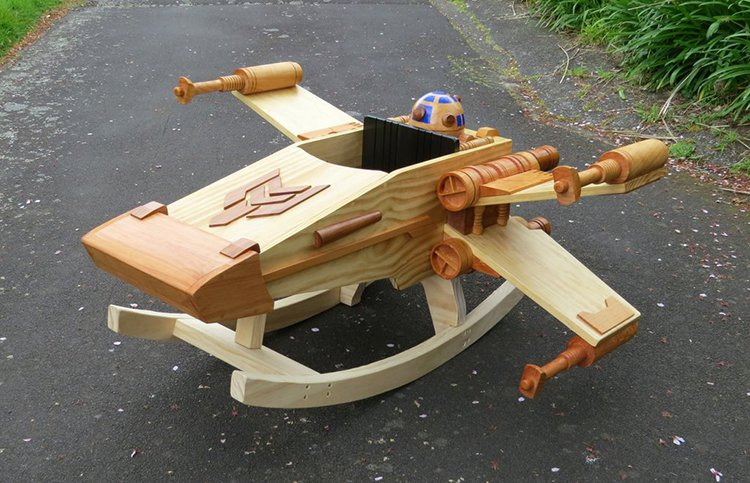 Steves Wooden Has Built An Awesome X Wing Starfighter
