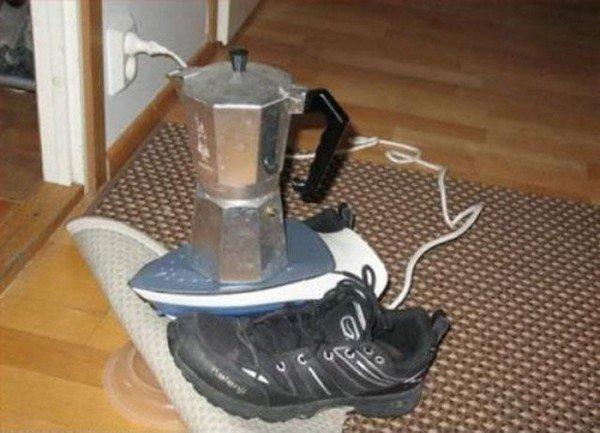 coffee pot iron shoe