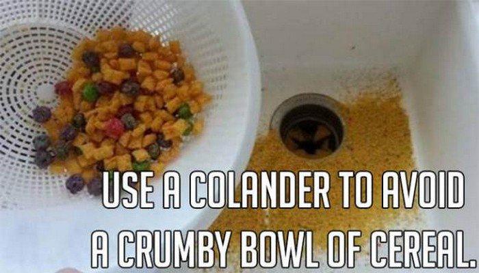 colander cereal