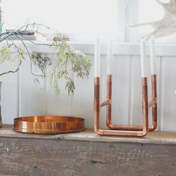 copper pipe candles