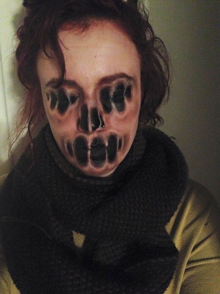 Gallery For gt Scary Teeth Face Paint