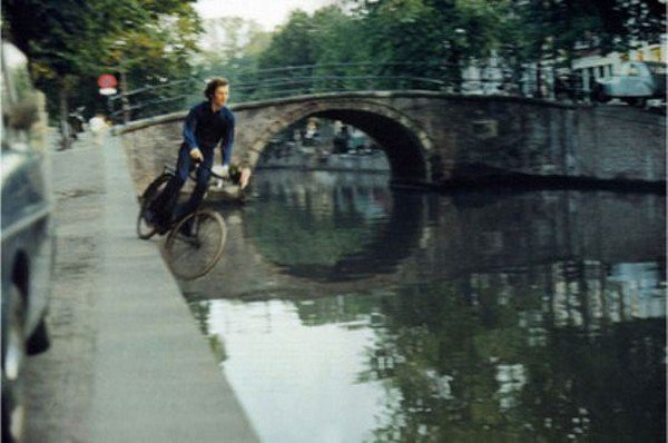 cyclist canal