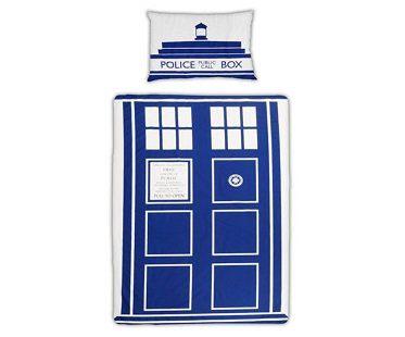 dr who tardis bedding single