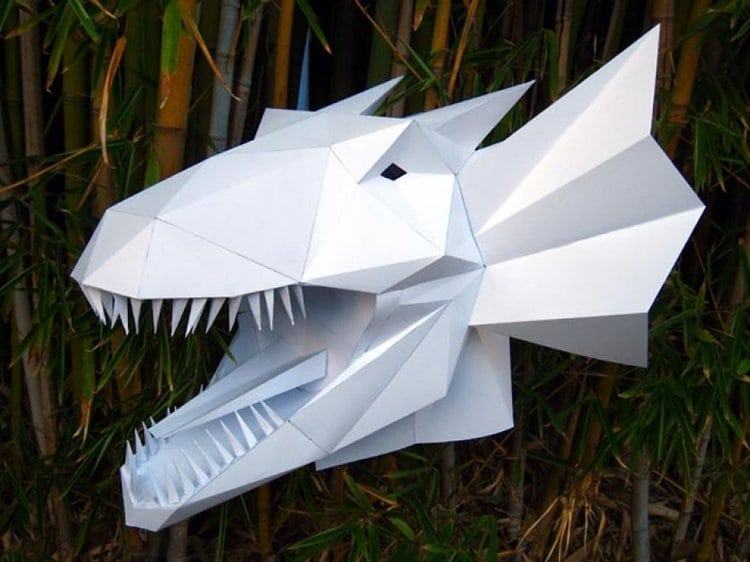 awesome 3d paper masks and sculptures you can make yourself