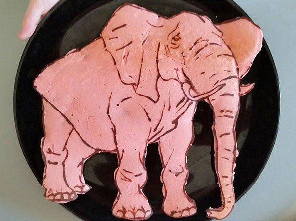 elephant pancake